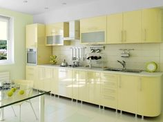 Modern Kitchen Cabinets - The old kitchen cabinets you had may have gotten out of fashion because style is getting changed every day and if you have to match the latest trend and style, then you have L Shaped Kitchen Designs, Kitchen Cupboard Designs, Kitchen Room Design, Modern Kitchen Design, Kitchen Decor, Kitchen Cabinets Materials, Kitchen Wall Cabinets, Kitchen Tall Units, Glossy Kitchen