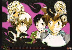 Tsuna, Kyoko, and Haru