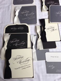 wedding invitation black&white