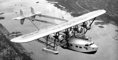 """Sikorsky S-40.  The exposed superstructure caused Charles Lindbergh to call the plane a """"flying forest."""" All three S-40s built were operated by Pan American (Caribbean Clipper, American Clipper, and Southern Clipper) and flew a total of 10 million miles to destinations throughout South and Central America."""