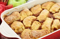 Apple Dumplings With Mountain Dew! Trust me, this recipe is OUT OF THIS WORLD and ridiculously easy. My grandma makes it, and there are NEVER leftovers!