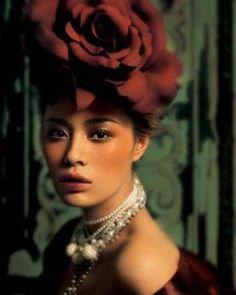 striking vintage styled fashion image.