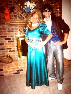 80s Prom Queen and King for Jim/Lex costume this year