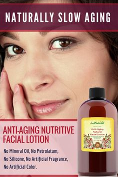 Anti-Aging Nutritive Facial Lotion / Made with the purest most luscious skin loving ingredients, this lotion will nourish, moisturize, and rejuvenate your skin with a blend of nutrient rich natural butters and essentials oils. Reduce wrinkles and fine lines for a more youthful and healthier appearance.