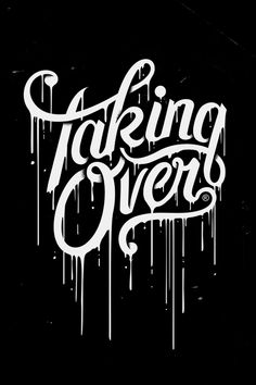#over #typography