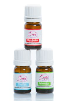 Simply Aroma -     Essential Kit Pk 5 includes:     (1) 5 mL Slenderize (Diet Blend)  (1) 5 mL OxyZen (Respiratory Blend)  (1) 5 mL Relaxation (Anti-Stress Blend)