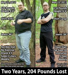 Two years, 204 pounds lost. Pure inspiration.   #fitocracytransformations #weightloss  http://www.fitocracy.com/knowledge/fitocracy-transformations-2/