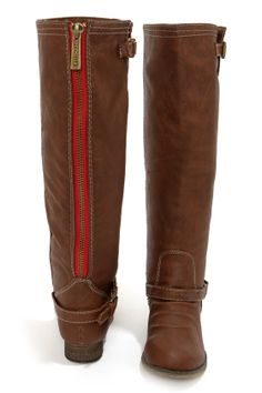 Outlaw 81 Tan Knee High Riding Boots