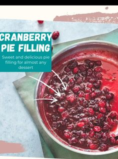 Sticky Good Cranberry Pie Filling made with vegan butter and demerara sugar #sugar #cranberrypie #filling #desserts #vegandesserts #thanksgiving Vegetarian Brunch Recipes, Vegetarian Comfort Food, Vegan Desserts, Vegan Recipes, Comfort Foods, Fruit Recipes, Pie Recipes, Dessert Recipes, Cranberry Pie