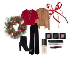 """""""Christmas at Home"""" by donutkitty79 on Polyvore featuring Dorothy Perkins, MaxMara, Gianvito Rossi, Bobbi Brown Cosmetics, Too Faced Cosmetics and WithChic"""
