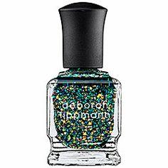 Deborah Lippmann - Nail Lacquer - Glitter in Shake Your Money Maker - resplendent radiant emerald  #sephora