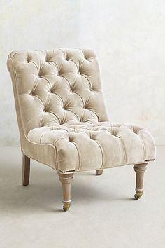Velvet Orianna Slipper Chair - anthropologie.com #anthrofave