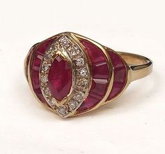 Franklin Mint ruby & diamond ring - by Stephenson's Auction