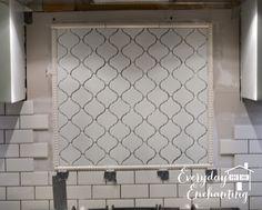 Project: Kitchen {Phase 1} Arabesque Backsplash Accent - Everyday ...   Subway tile with arabesque backsplash behind stove
