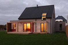 Zinc-roofed cabin France.
