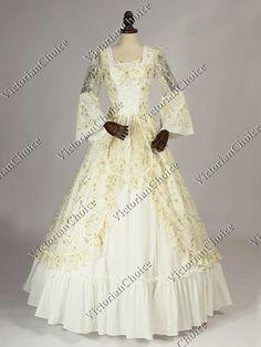 Victorian Edwardian Lace Wedding Dress Beetlejuice Bride Gown Steampunk Wear 392