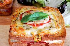 Italian Croque-Monsieur – World Food Gourmet Recipes, Snack Recipes, Healthy Recipes, Huevos Fritos, Healthy Sandwiches, Chicken Parmesan Recipes, Food Print, Easy Meals, Food And Drink