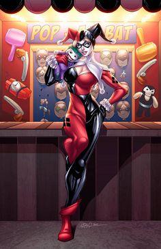 Harley Quinn holding a joker plushie Gotham City, Marvel Dc, Harley Quinn Et Le Joker, Arley Queen, Harey Quinn, Art Kawaii, Gotham Girls, Gotham Batman, Bd Comics