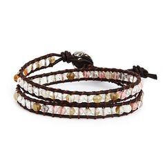 Chen Rai Slim Cherry Quartz Double Row Wrap Bracelet on Brown Leather Eve's Addiction http://www.amazon.com/dp/B00AAOSKPI/ref=cm_sw_r_pi_dp_21vGvb1KS525M