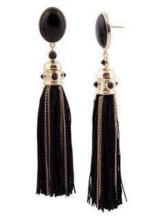 my black silk earring