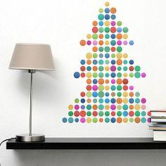 Modern christmas tree on wallpaper by Fototapeta4u.pl