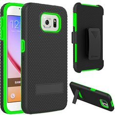VAKOO For Samsung Galaxy S6 Belt Clip Pouch Case Shockproof Drop Proof Heavy Duty Case Rugged Soft Silicone Dual Layer Holster Armor Cover with Kickstand and Locking Belt Swivel Clip for Samsung Galaxy S 6 S VI GREEN Vakoo http://www.amazon.com/dp/B00XYICQ2A/ref=cm_sw_r_pi_dp_.KpEvb1ZPM9B9