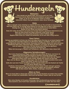 Ber ideen zu hunderegeln auf pinterest australian cattle dog blue heelers und rinder - Nanu nana poster ...