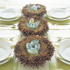 Easter Birch Twig Nest- love this for spring table decor