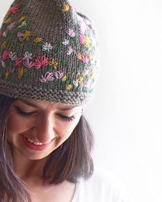7f66bf06489 Colorful Stitch Knit Hat Women Accessories by SabaKnits on Etsy. Everest  Designs · GIRLIE HATS
