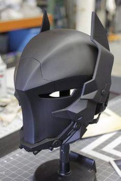 Batman: Arkham Figure Series (Origins, Asylum, City, Knight) - Page 372 Im Batman, Batman Arkham, Helmet Design, Mask Design, Armor Concept, Concept Art, Armadura Cosplay, Foam Armor, Arte Robot