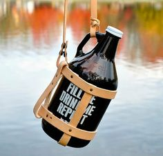 Growler Carrier by ElginVineHandMade on Etsy, $40.00
