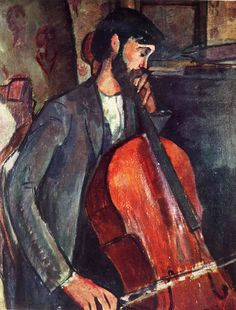 The Cellist - 1909 - Painting - oil on canvas
