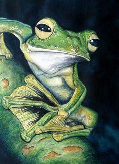 Boreal Flyer Tree Frog by joeynash on Etsy