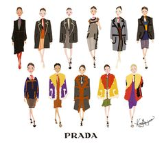 PRADA 2014 F/W ©Illustrated by Minjee Kang. All Rights Reserved