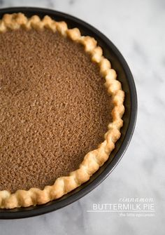 Cinnamon Buttermilk Pie
