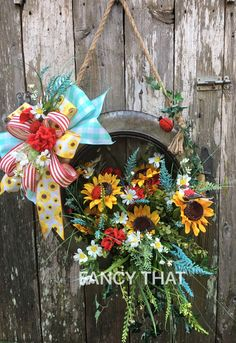Metal tire from Hobby Lobby Metal Tree Wall Art, Leaf Wall Art, Metal Wall Decor, Wall Art Decor, Hobby Lobby Christmas, Christmas Decor, Vinyl Shutters, Antique Metal, Summer Wreath