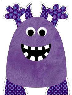 Monster cut out. Monster Party, Monster Birthday Parties, Cartoon Monsters, Cute Monsters, Little Monsters, Halloween Rocks, Halloween Crafts For Kids, Halloween Shirt, Monster Classroom