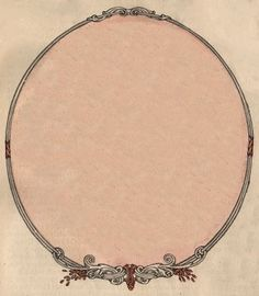 Free Vintage Clip Art - Victorian Frame - Label - The Graphics Fairy