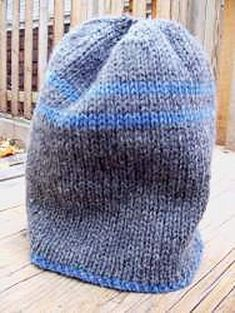 Ski Cap - double knitting projects knitting patterns 10 Simple Double Knitting Projects - Ideal Me Double Knitting Patterns, Easy Knitting, Knit Patterns, Simple Knitting Projects, Double Crochet, Knit Crochet, Crochet Hats, Diy Trend, Knit Hat For Men