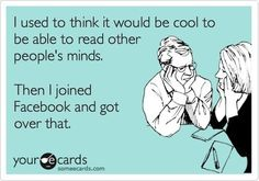 ah-haha... SO TRUE!! I am pretty sure when FB asks what's on your mind they didn't mean every second of the day.
