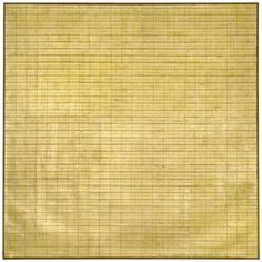 Agnes Martin Friendship 1963  Incised gold leaf and gesso on canvas. Museum of Modern Art, New York