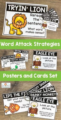 Word Attack Strategies Posters, Cards, and Bookmarks 2nd Grade Classroom, Future Classroom, Teacher Pay Teachers, Teacher Tips, Guided Reading, Reading Room, Classroom Activities, Classroom Ideas, Sound Words