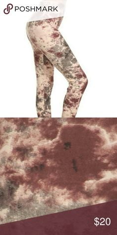 SOFT Whimsical Tie Dye Leggings * COMING SOON Super-soft OSF pink & grey whimsical tie dye print brushed knit leggings.   92% Polyester 8% Spandex  One size fits (2-12/14)  COMING SOON, LIKE OR COMMENT FOR NOTIFICATIONS. boutique Pants Leggings