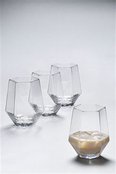 Buy Set of 4 Angular Tumbler Glasses from the Next UK online shop Cool Kitchen Gadgets, Kitchen Items, Cool Kitchens, Kitchen Decor, Home Decor Accessories, Kitchen Accessories, Dinner Sets, Kitchenware, Sweet Home