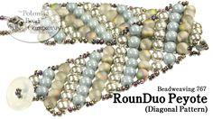 RounDuo Peyote Stitch Diagonal Bracelet