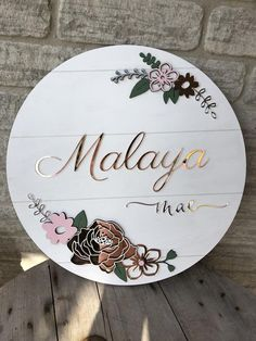 Middle Names For Girls, Girl Names, Best Small Business Ideas, Decoration Evenementielle, Cute Baby Names, Wood Name Sign, Baby Name Signs, Flower Svg, Holiday Signs