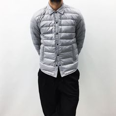 """tumblinginn: """"NEW! Our MKI DOWN COLLECTION is here! Featured is the MKI DOWN OVERSHIRT in ICE GREY   £140   Available in store & online now… WWW.MKISTORE.COM #MKISTORE """""""