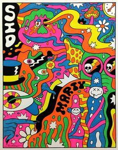 Trippy 'Krofft Super Art Show' opens in LA / Boing Boing Hippie Painting, Trippy Painting, Hippie Drawing, Hippie Wallpaper, Trippy Wallpaper, Kunst Inspo, Art Inspo, Psychedelic Art, Psychedelic Pattern