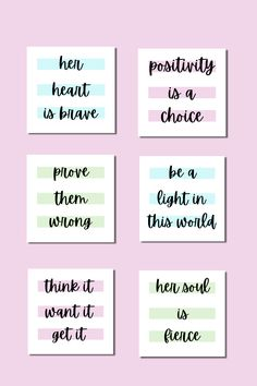 30 premade pastel motivational quote posts for your social media feed. Motivational Quotes For Girls, Girl Quotes, Social Media Sizes, Green Quotes, Marketing And Advertising, Things To Think About, Pastel, Positivity, Messages