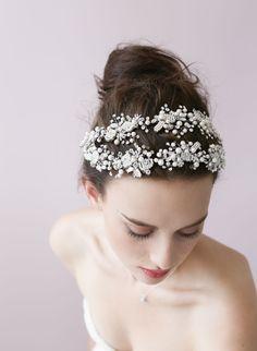 Double ornate beaded and crystal hair vine - Style # 413 - Ready to Sh (2014, hair adornments, hair vine, hair vines, headbands, headpieces,...